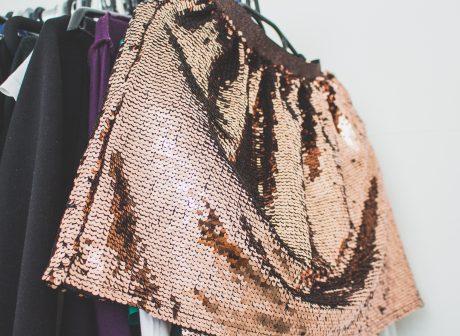 Canva - Hanging Sequinned Gold Skirt